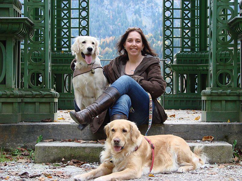 17-oktober-2012 Mit beiden Mädchen im Park Linderhof