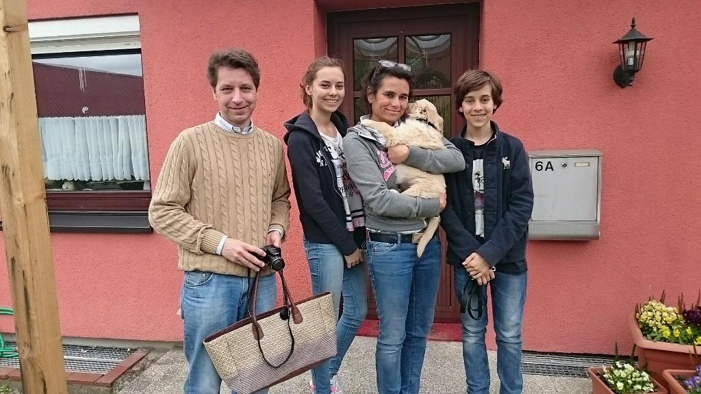 Familie Jaletzky mit ihrem.Gooofy ist startklar