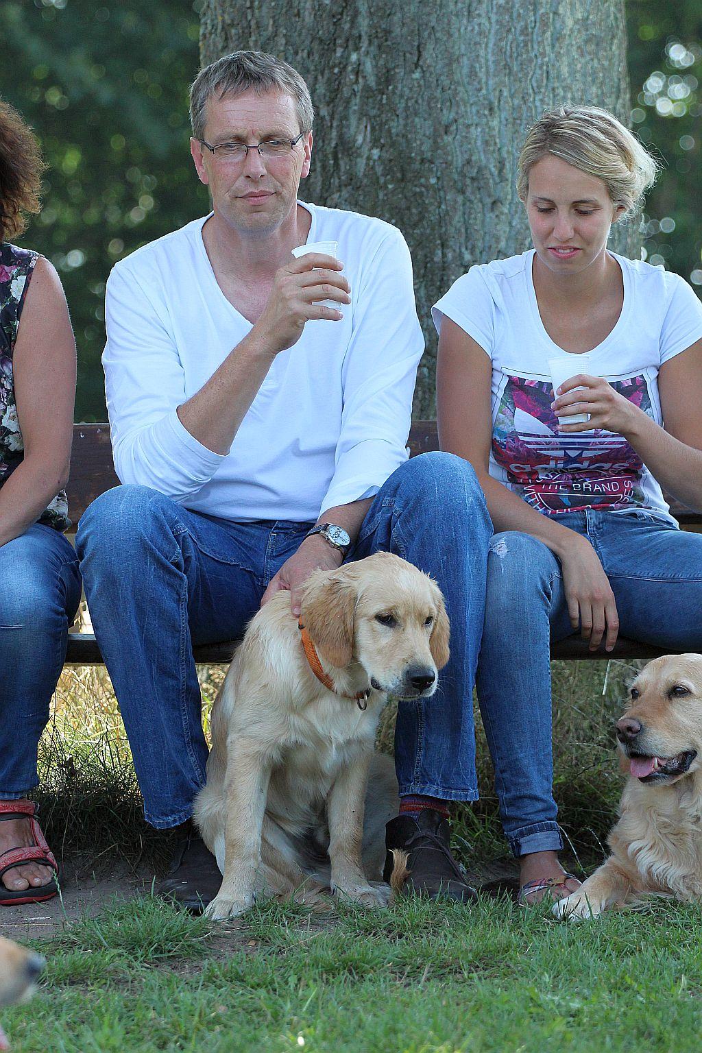 Gentleman mit seiner Familie