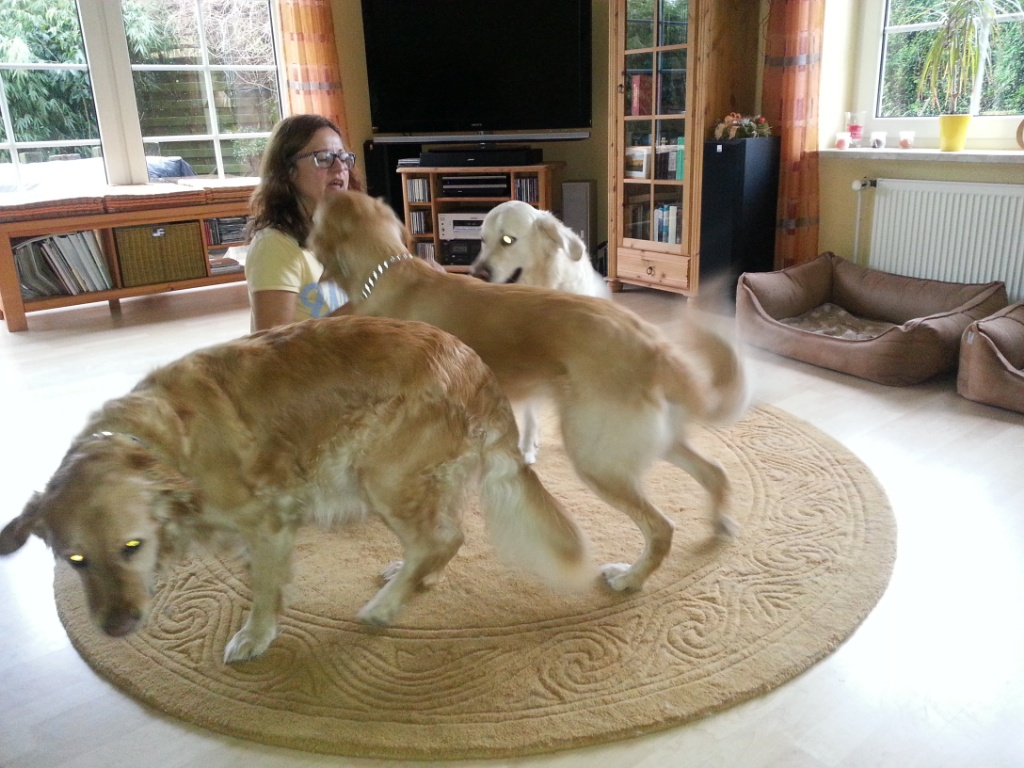 Ina mit Elvis, Eden und Arielle