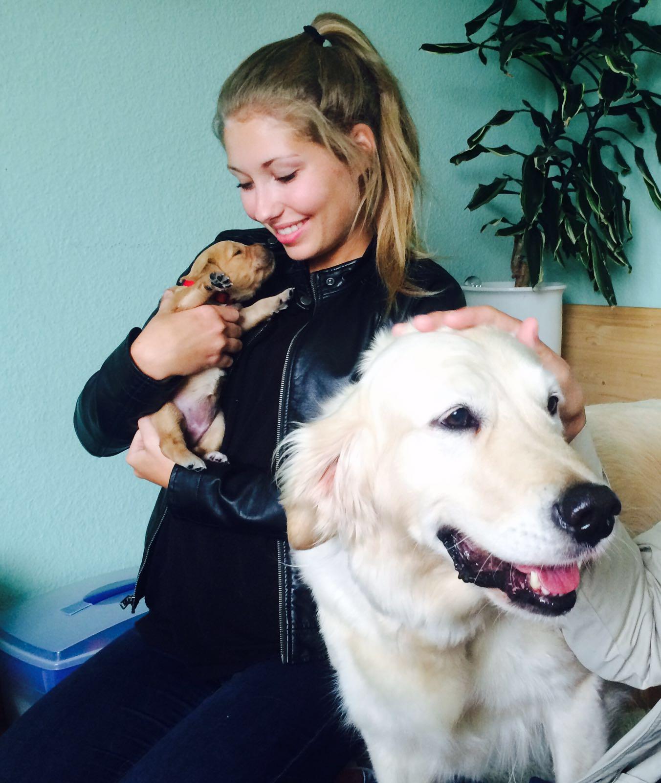 Sophie mit Hope und Bonita