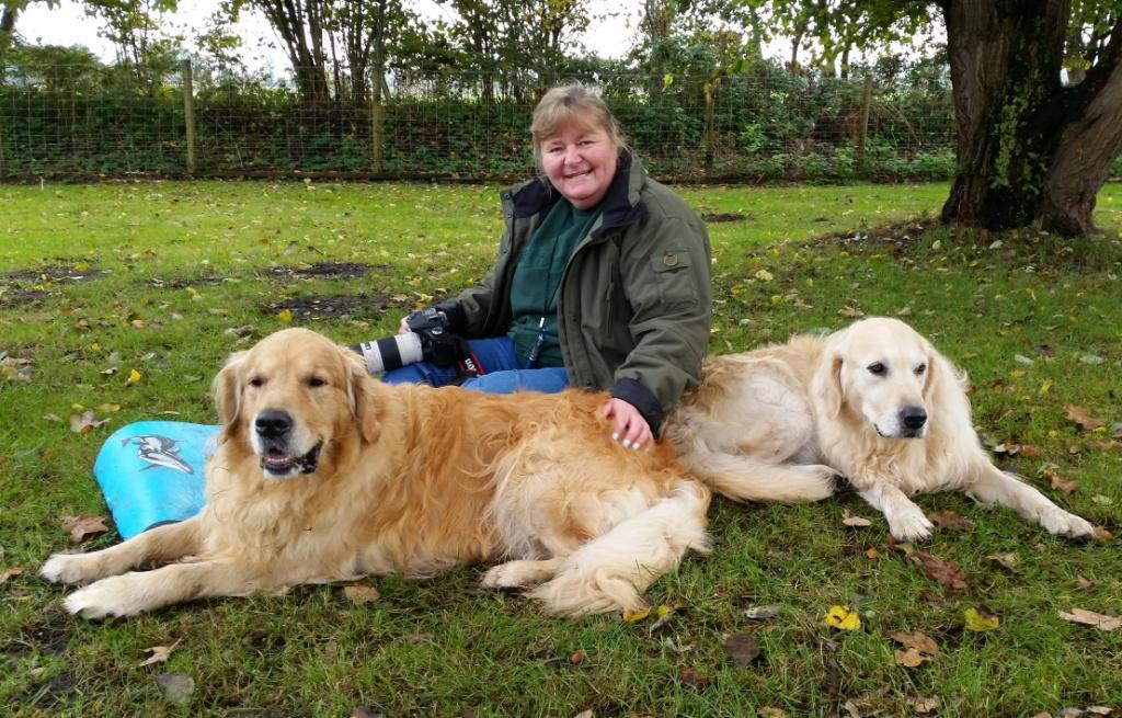 Simone mit Charly und Dave