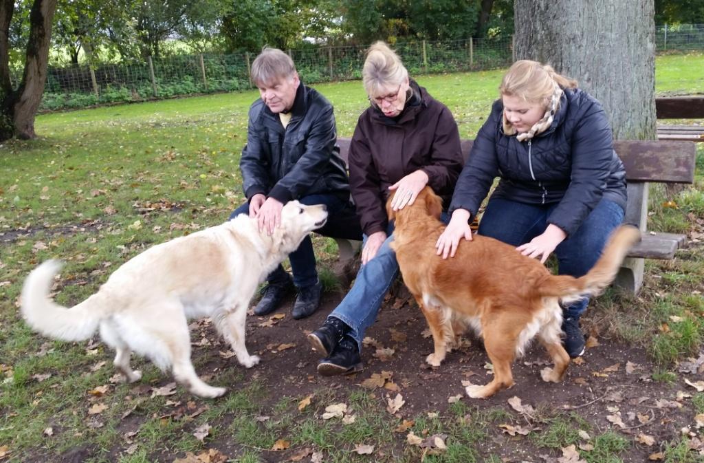 Berni,Angelika und Ida mit Bonita und Crazy